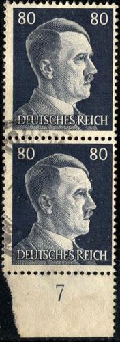 3273 alemania 3er reich par vertical #7  80pf usado 1941