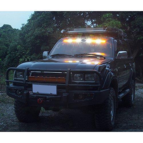 32led 32w led barra de luces visera luz parabrisas...