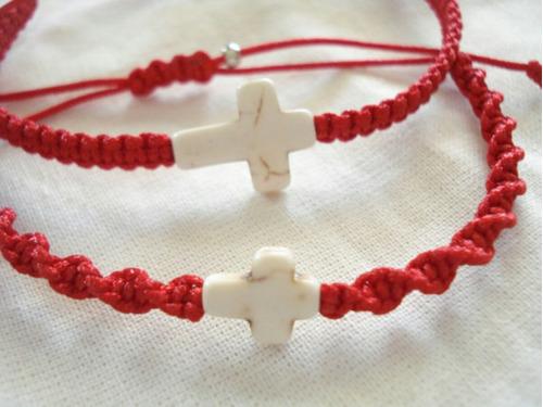 *33-red* pulsera cruz espiritual unisex varios diseños
