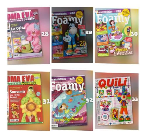33 revistas con moldes foami (digitales en pdf - full color)