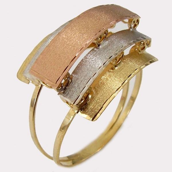 4a5c49522b3 3300 Anel Tricolor Ouro 18k - R  743