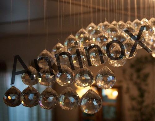 34 esferas de cristal lapidado 30mm p/ lustres e home decor