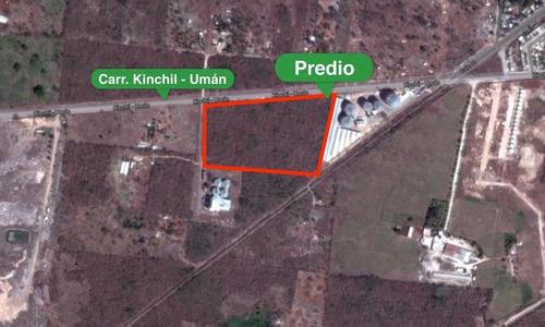 3.4 hectáreas de terreno con excelente ubicación en umán