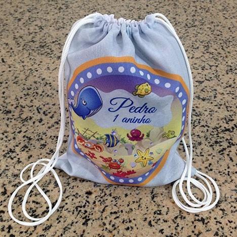 34 mochilinhas personalizadas sacochila sacolinhas saquinho