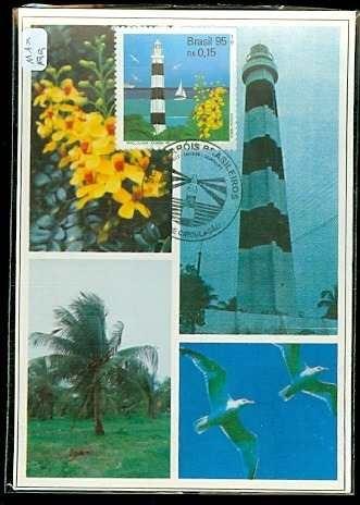 34- um cartao max.199- serie farois- brasil 95