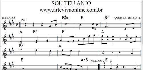 340 partituras de teclado gospel (todas cifradas) r$ 150,00