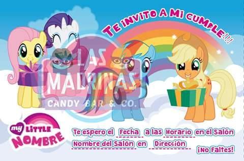 35 invitaciones my little pony tarjetas pequeño pony foto