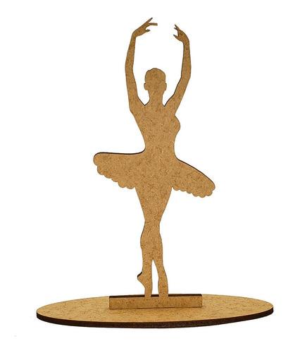 35 kit festa mdf decorativo bailarinas ballet 15 cm mdf