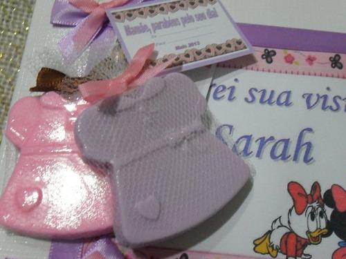 35 lembrancinhas para nascimento ou chá de bebê perfumadas