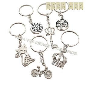 8b0b2b558074 35 Llaveros Souvenir Dijes Metal Llaves Coronas Cumpleaños