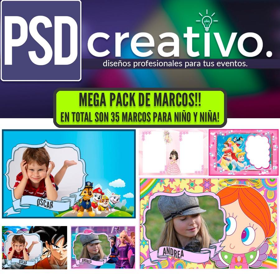 35 Marcos De Niño Y Niña Para Photoshop! - $ 37.00 en Mercado Libre
