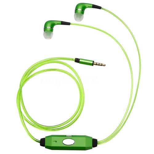 3.5 mm led flash light-up estéreo auriculares earbud