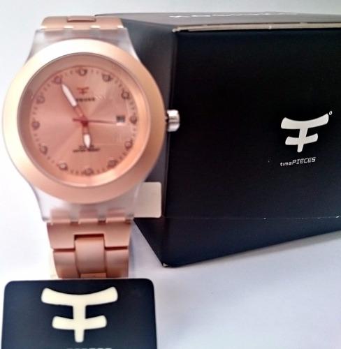 35% off - reloj calendario kosiuko full blooded oro rosa