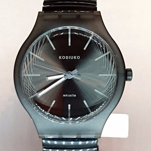 35% off- reloj kosiuko resolution correa elastizada negro