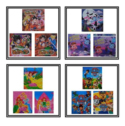 35 pack x 3 rompecabezas infantiles puzzle 9pzs diverti toys
