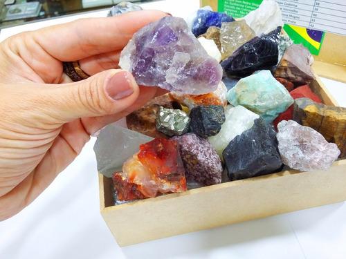 35 pedras diferentes drusa ametista pirita quartzo obsidiana