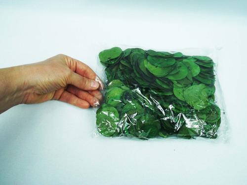 350 folhas natural desidratadas nªº artificial verdes pacote