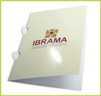 350 pastas personalizadas com orelha papel couche 250gr