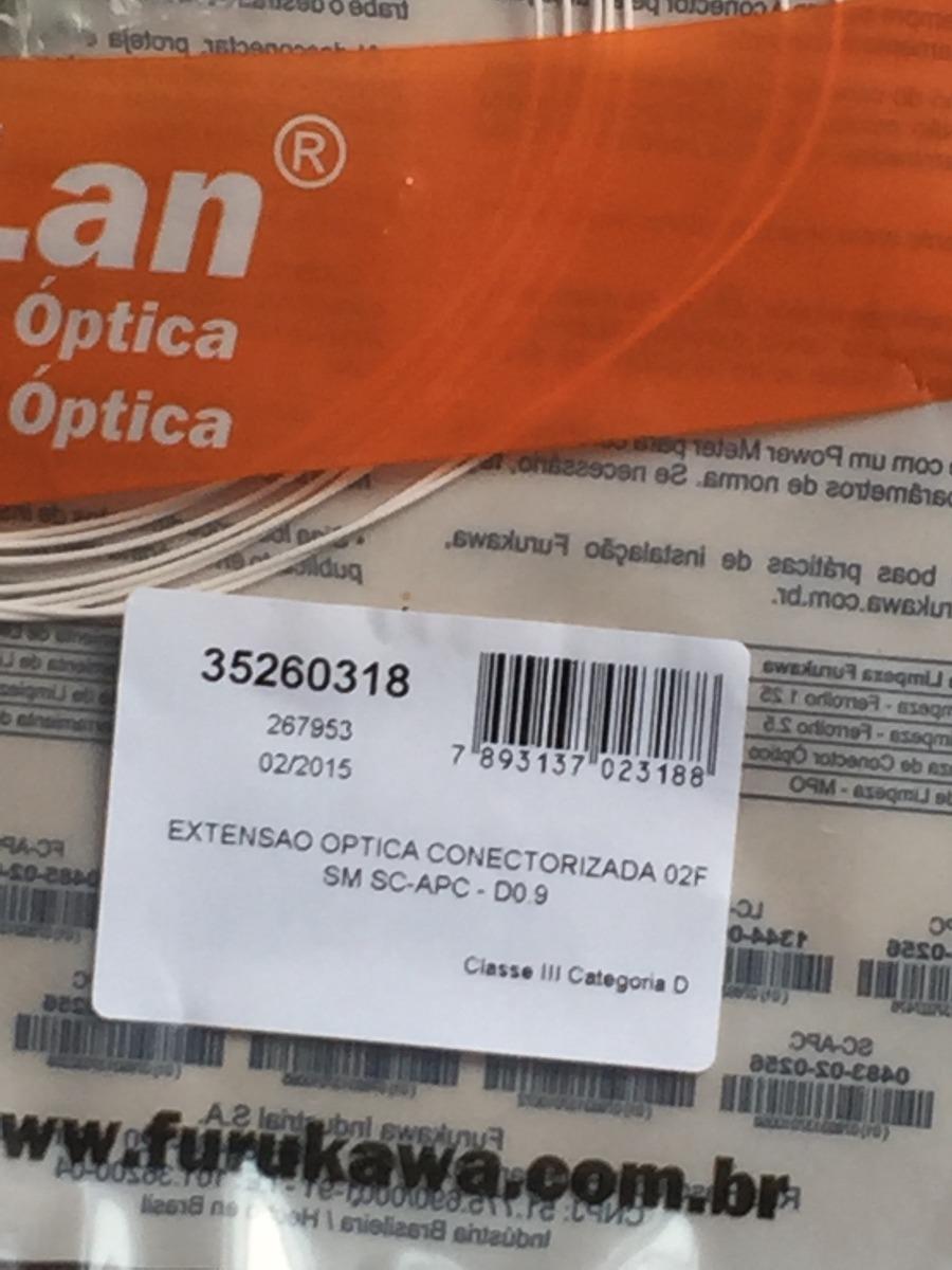 88433769d8 35260318 - Extensão Optica Conectorizada 02fo / Sm Sc-apc-d0 - R$ 15 ...