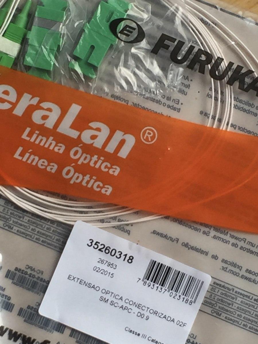 ed795fe237 35260318 - Extensão Optica Conectorizada 02fo / Sm Sc-apc-d0 - R$ 15,00 em  Mercado Livre