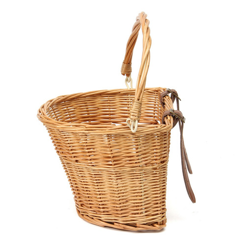 35*26*21cm vintage de mimbre de la bicicleta cesta con corre