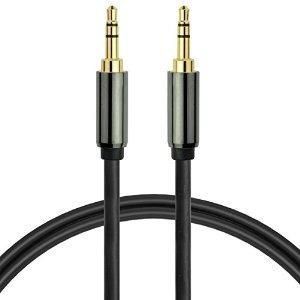 3.5mm macho a macho cable de audio estéreo (12 pies) por med