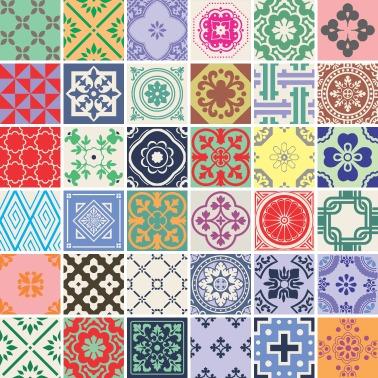 36 adesivos azulejo 20 x 20cm brinde ladrilho for Vinilo azulejo hidraulico