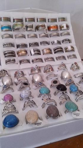36 anillos mixtos premium acero quirurgico x mayor reventa