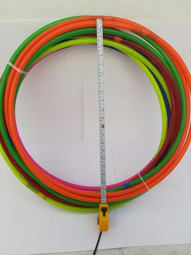 36 aros ula ula mediano,56, cm  *neon* pack 3