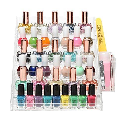 36 botella profesional acrílico nail polish estante del sop