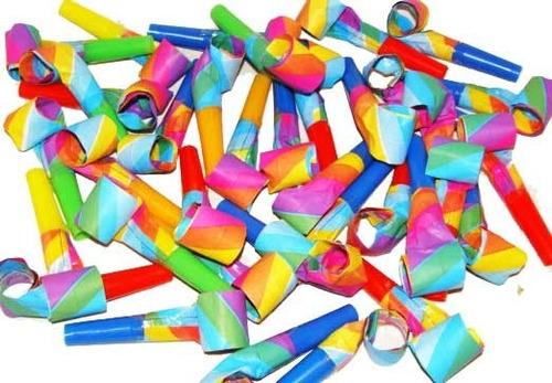 36 churros de papel multicolor - cotillon sa