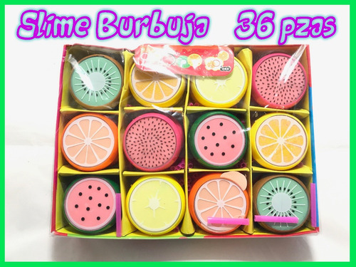 36 crystal slime barrel burbuja moco gorila frutas envío g