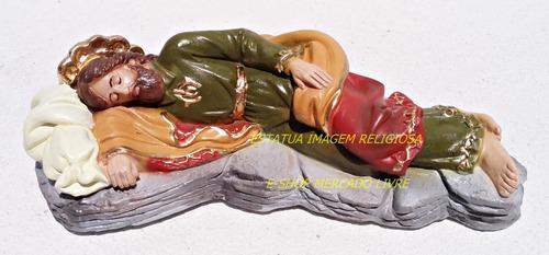 36 imagem são josé dormindo estatua gesso 20cm (3 duzias)