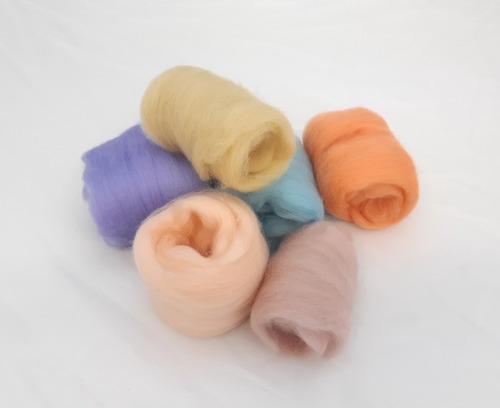 36 madejas de lana para felting 4g por color