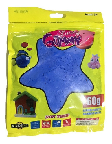 36 masas funny gummy goma eva slime moldeable / lhua store