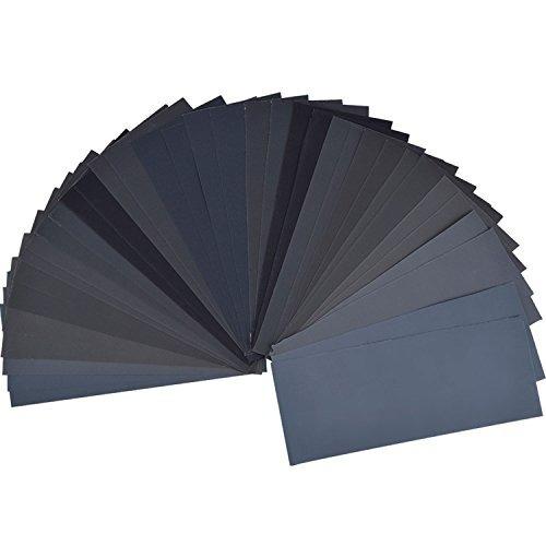 36 piezas surtido de papel de lija de grano 400 a 3000 secad