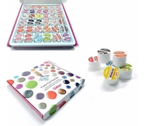 36 potes uv gel cores puras coloridos unhas acrygel tips