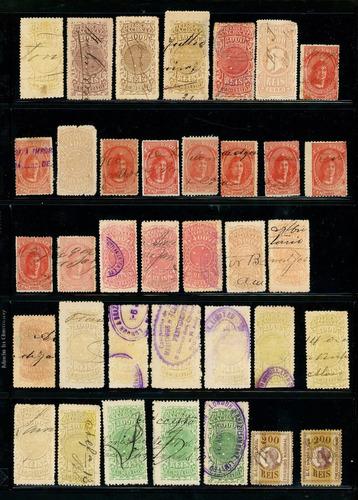 36 selos fiscais brasil  - veja 3 fotos / anúncio