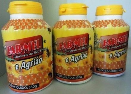 36 unidades de farmel composto de mel, própolis e agrião