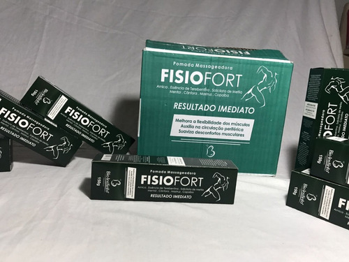36 unidades pomada fisiofort verde no atacado frete gratis