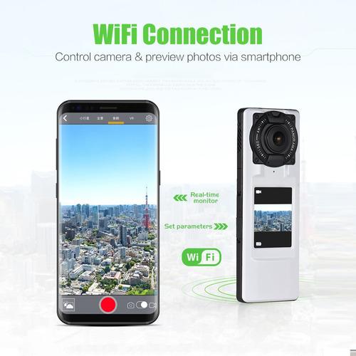 360 4k ultra hd wifi vr cámara vídeo panorámico handheld