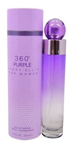 360° purple 100 ml edp spray de perry ellis