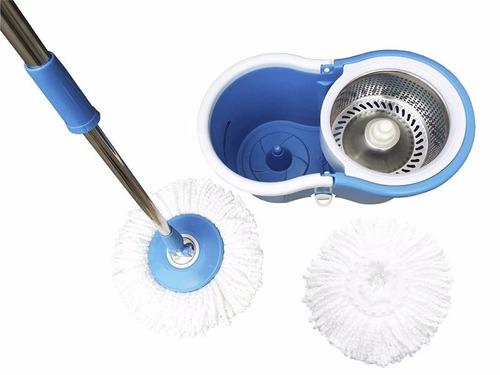 360 spin mop and go balde magico sem pedal cesta inox luxo