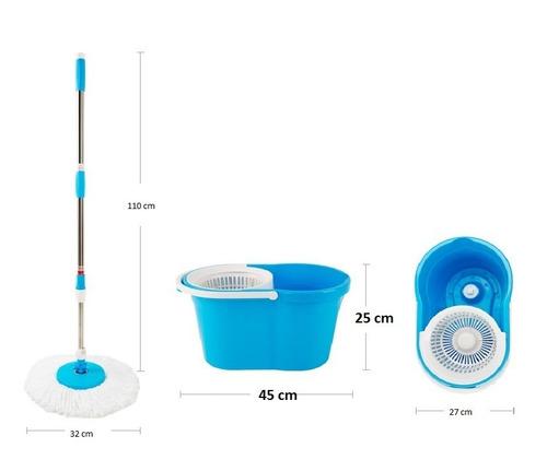360 spin mop and go balde mágico sem pedal + refil grátis