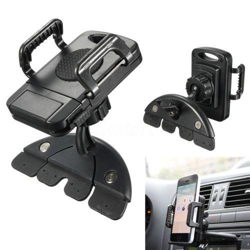 360° universal coche ajustable cd ranura soporte teléfono