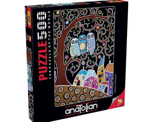 3605 los tres búhos gerard rompecabezas 500 piezas anatolian