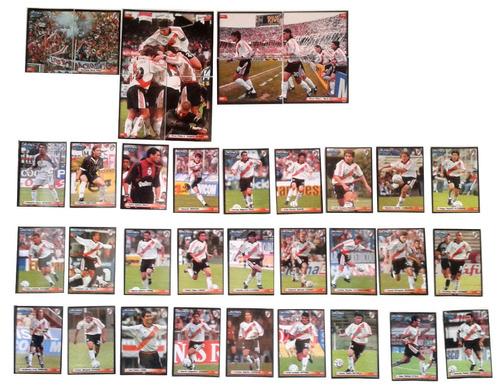 37 figuritas river futbol 2001 equipo completo impecables