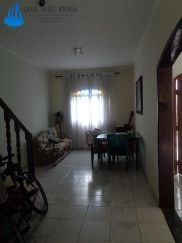 373- 3 dormitórios lado praia para locação definitiva mongag