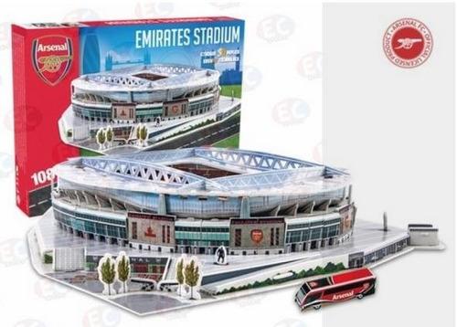 3735 estadio emirates stadium arsenal 3d 108 piezas nanostad