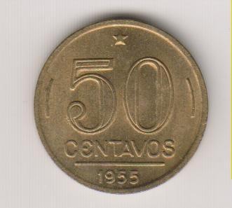 378 - 50 centavos gaspar dutra 5 gr 21 mm sob/fc r$ 12,00